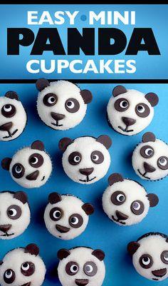 Panda Cupcakes by @Bakerella > so stink in' cute!