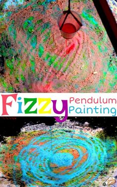 Turn your mini scientists into true artists by creating a pendulum painting work of art using a classic chemical reaction.This makes for an impressive science experiment or science fair project for kids. The end result is a beautiful, vibrant, and unique masterpiece the kids will love creating. Awesome STEM activity! #sciencekiddo #kidsscience #STEM #STEAM #science #scienceforkids #artforkids