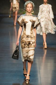 the headpiece & earnings  Dolce & Gabbana Spring 2014 Ready-to-Wear Collection on Style.com: Runway Review