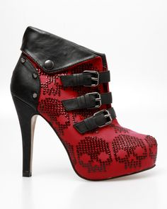 Iron Fist Rider Bootie-not crazy about skulls, but loooove the style (a favourite repin of VIP Fashion Australia www.vipfashionaustralia.com )