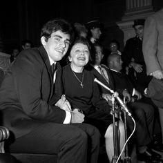 Théo Sarapo and Édith Piaf 1962  http://photo.ina.fr/detail/167637073_edith-piaf-et-theo-sarapo-lors-de-leur-mariage