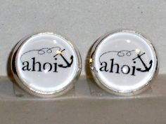 Ohrstecker Ahoi Glas Ø14mm Cabochon Metall Legierung Ohrschmuck Modeschmuck My Love, Products, Fashion Styles, Anchor, Gemstone Earrings, Stud Earring, Handmade, Glass, Round Round