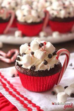 Yummy Christmas cupcake