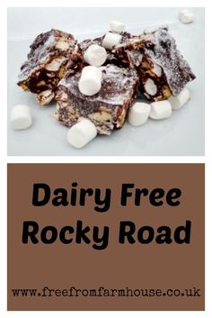 Dairy free rocky road is an easy and delicious treat that requires no cooking and is quick and fun to make with the kids. Egg Free Recipes, Easter Recipes, Snack Recipes, Dessert Recipes, Snacks, Vegan Recipes, Candida Recipes, Baby Recipes, Easter Ideas
