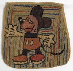 Mickey Mouse Hooked Rug