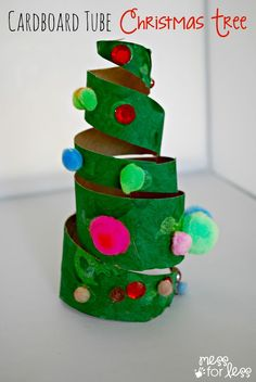 Christmas Crafts for Kids - Cardboard Roll Christmas Trees. Such a great way to used those empty tubes we all seem to have lying around. My kids had such fun decorating their trees! Kids Crafts, Christmas Crafts For Kids To Make, Christmas Activities For Kids, Preschool Christmas, Toddler Crafts, Preschool Crafts, Christmas Themes, Kids Christmas, Holiday Crafts