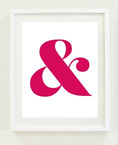 Ampersand print poster
