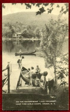 VINTAGE CAMPFIRE GIRL POSTCARD, LAKE COHASSET WATERFRONT, ARDEN, NY - NOT SCOUT   eBay