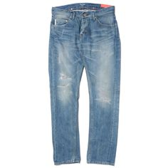 "Japanese brand, Deluxe, founded by Hideki ""Hue"" Kimura, has been producing some great high-end street wear for quite some time. This pair of jeans is another great example of their New York inspired style."
