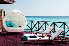 Beautiful outdoor deck in the Caribbean.