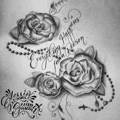 Dream Tattoos, Future Tattoos, Rose Tattoos, Flower Tattoos, New Tattoos, Body Art Tattoos, Rose Drawing Tattoo, 1 Tattoo, Tattoo Drawings