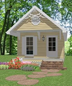 Small home 39 s and play house 39 s on pinterest tiny house for Mother in law cottage log cabin