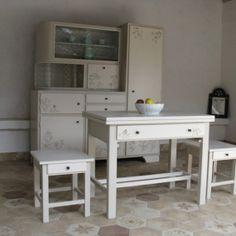 1 Shabby, Wood Creations, Refurbished Furniture, Vintage Designs, Corner Desk, Vanity, Retro, Kitchen, Baking Center