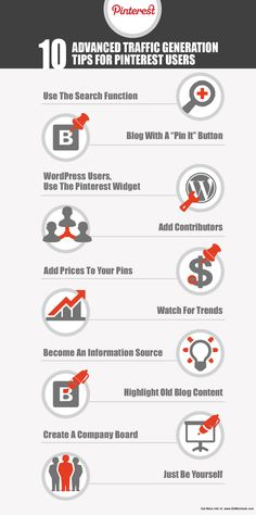 10 consejos para generar tráfico con Pinterest #infografia #infographic #socialmedia