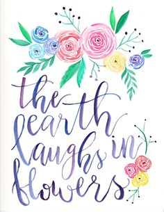 The Earth Laughs in Flowers by HeartAirBalloon on Etsy
