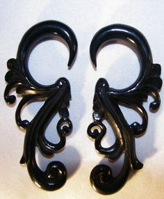Avaia Artistic Jewelry  - CASCADE horn hanging ear gauges - 12g - 2g organic, spiral, plug, earrings, $24.99 (http://www.avaiaartisticjewelry.com/products/CASCADE-horn-hanging-ear-gauges-%2d-12g-%2d-2g-organic,-spiral,-plug,-earrings.html)