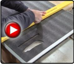 Kaizen Foam - FastCap - Woodworking Tools Great for carving out shapes for organizing tools, etc.