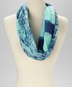 Look what I found on #zulily! Blue Stripe Infinity Scarf #zulilyfinds