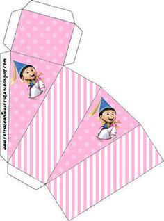 Despicable Me Girls - Full Kit with frames for invitations, labels for snacks, souvenirs and pictures! | Making Our Party