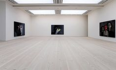 White tinted wooden floors