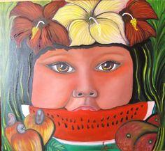 Fruta Salvaje By Lineth Márquez  Pintora Panameña