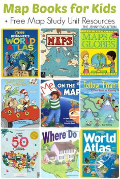 Map Books for Kids + Free Map Study Unit Resources