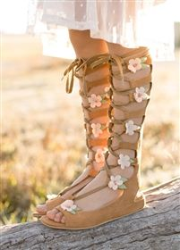 Joyfolie - Seraphina Lace-up Gladiator Sandals in Sable Rose **NEW**