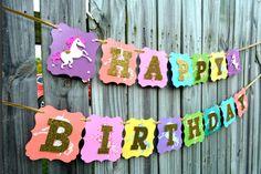 Unicorn Banner, Unicorn Party, Unicorn Birthday Party, Unicorn Party Supplies, U. 1st Birthday Presents, Unicorn Birthday Parties, Unicorn Banner, Unicorn Decor, Creative Banners, Unicorn Party Supplies, Dragon Party, Bday Girl, Kid Party Favors