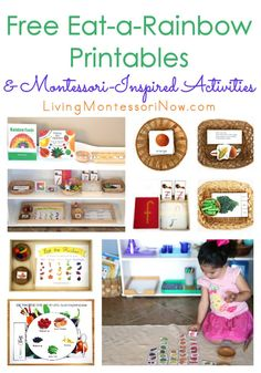 Perfect for a healthy nutrition unit, this post contains lots of free eat-a-rainbow printables & Montessori-inspired activities for preschool - first grade. Nutrition Education, Sport Nutrition, Nutrition Month, Nutrition Activities, Nutrition Plans, Kids Nutrition, Health And Nutrition, Nutrition Guide, Nutrition Resources