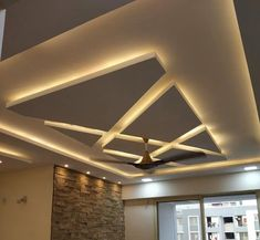 False Ceiling designers in Karachi, Forceling took a unique and very cool-lookin. False Ceiling designers in Karachi, Forceling took a unique and very cool-looking design approach t Simple False Ceiling Design, Gypsum Ceiling Design, House Ceiling Design, Ceiling Design Living Room, Bedroom False Ceiling Design, False Ceiling Living Room, Ceiling Light Design, Home Ceiling, Ceiling Decor