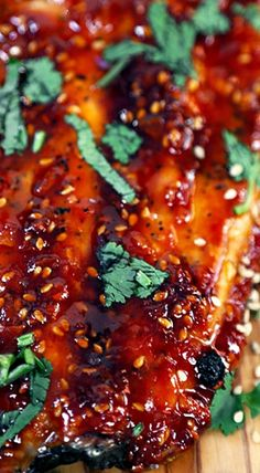 Honey Sriracha Oven Baked Salmon Recipe