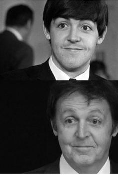 This is a photograph of James Paul McCartney in the upper photograph. The man in the lower photograph is NOT James Paul McCartney.