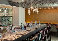 Located in Heron Tower on Bishopsgate, The Drift is a new venue, brimming with quirky collectibles, hidden alcoves, a mixology table and fine dining nook.