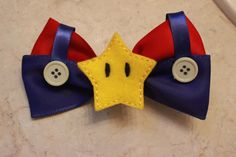 Super Mario Brothers Inspired Hair Bows by BlueBugRain on Etsy Girl Hair Bows, Girls Bows, How To Make Bows, Make And Sell, Lego Ninjago, Hair Supplies, Kids Hair Accessories, Mario Brothers, Ribbon Crafts