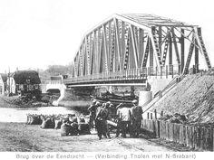 Oude brug in tholen vanaf ri halsteren in 1920