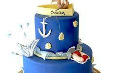 Bolo decorados de marinheiro