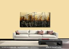 Modern Abstract Painting Original Art on Canvas by by OsnatFineArt