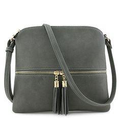 SALE PRICE - $15 - Lightweight Medium Crossbody Bag with Tassel