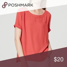 LOFT drapey cuff-sleeve top - NWT This top is lovely! Just not my color - brand new with tags. LOFT Tops Blouses