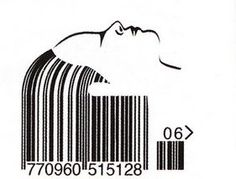 Barcode head with hair Barcode Art, Barcode Design, Service Assiette, Print Design, Graphic Design, Typo Logo, Creative Advertising, Creative Thinking, Esquire