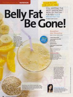 Belly fat breakfast smoothie
