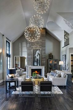 27 Breathtaking Rustic Chic Living Rooms that You Must See | Living ...