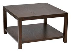 """Office Star Espresso Merge 30"""" Square Coffee Table"""