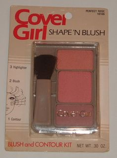 CoverGirl RARE Vintage 80's Shape 'N Blush Contour Kit Perfect Rose 10166 | eBay