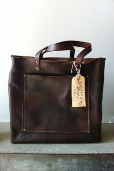 stanley and sons leather tote.