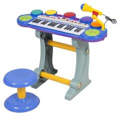 Baby,Toddler Electronic Toy DJ Keyboard Piano Set w Mic Records Playback Stool Lexy Panterra, Electric Keyboard, Keyboard Piano, Musical Toys, Piano Keys, Electronic Toys, Educational Toys, Musical Instruments, Toys