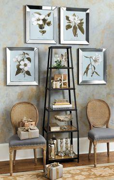 Trent Austin Design Bondy 34 Etagere Bookcase Color Dark Tan