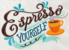 Machine Embroidery Designs at Embroidery Library! - New This Week I Love Coffee, Coffee Art, Coffee Shop, Happy Coffee, Coffee Club, Coffee Lovers, Coffee Mugs, Coffee Quotes, Coffee Humor
