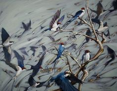 Nicole Sanderson. Oil Painting on Canvas. 90cm x 70cm Feeding Time A3 (420 X 297 mm) -$80  A2 (594 x 420 mm)- $110  A1 (841 x 594 mm) - $150  A0 (1189 x 841 mm) -$250  *shipping = + $30 worldwide