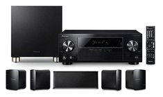 This package comes with a AV receiver, 5 compact speakers and a subwoofer. Just connect your Blu-ray Disc player or DVD player and enjoy quality sound for your home entertainment. Featuring 4 HDMI inputs and Ultra HD Dolby Digital, Usb, Installation Home Cinema, Online Electronics Store, Bluetooth, Best Home Theater System, Av Receiver, Audio In, Cost Of Goods